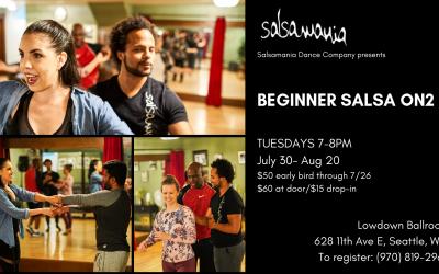 Salsamania Presents Salsamania Seattle Beginner Salsa On2